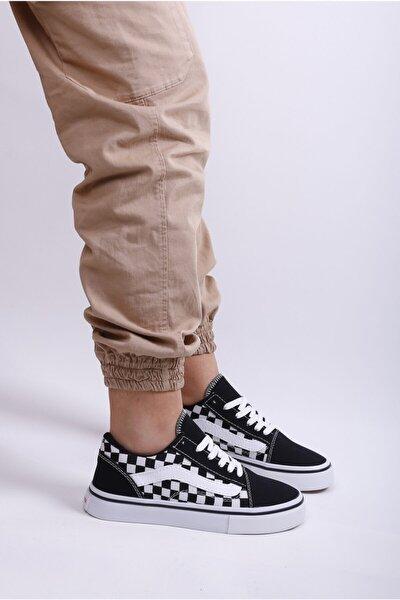 123420 Syh/beyaz Damalı Sneaker