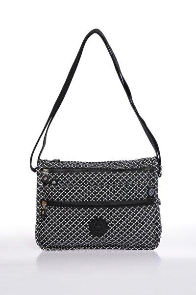 Smb1128-0127 Siyah/beyaz Kadın Çapraz Çanta