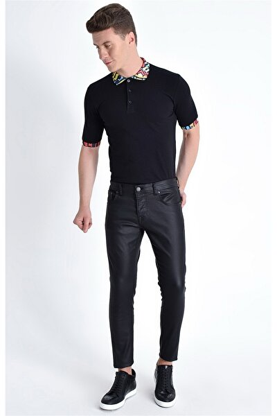 032 Slim Fit Siyah Jean Pantolon