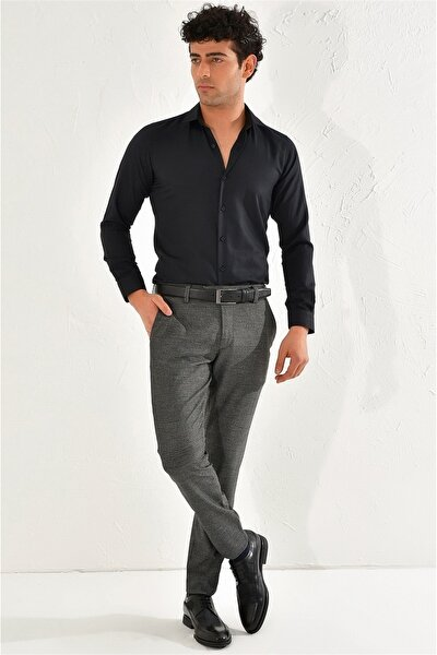 P 1065 Slim Fit Siyah Spor Pantolon