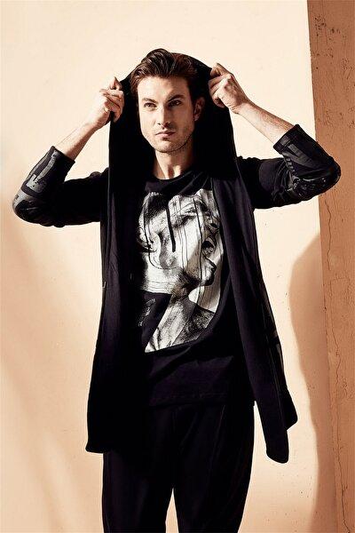 Atş 008 Slim Fit Siyah Spor T-shirt