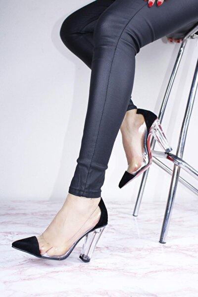 Kadın Cam Ökçeli Şeffaf Ayakkabı