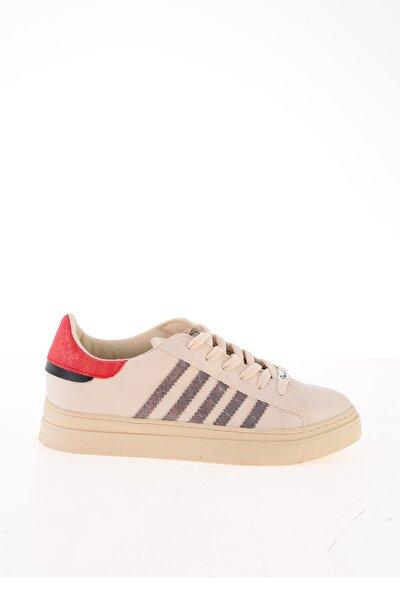 Beyaz Kahve Kadın Sneaker K0590600109
