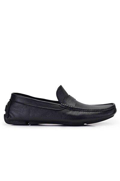 Hakiki Deri Siyah Yazlık Erkek Ayakkabı -11599-