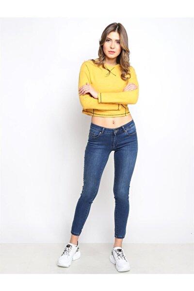 Kadın Slim Fit Orta Bel Pantolon Lıma 9046-37 37