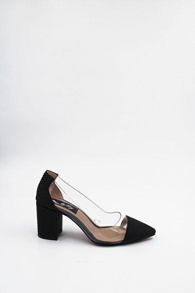 Şeffaf Kalın Topuklu Kadın Ayakkabı