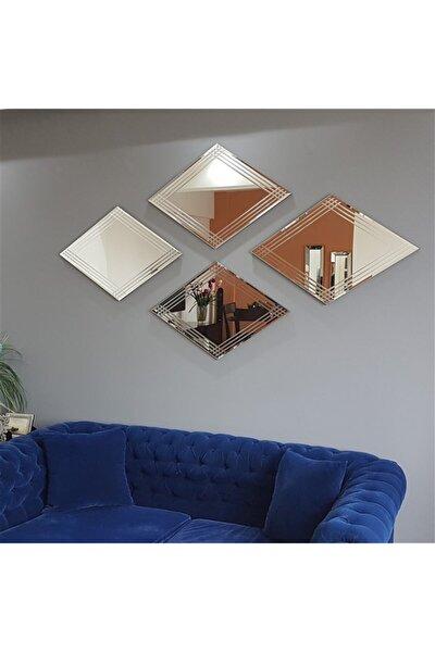 - 4 Lü Dekoratif Baklava Ayna A402e