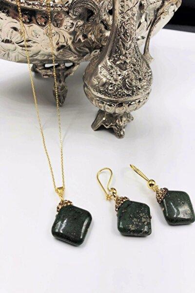 Dr Stone Harem Koleksiyonu Akik Taşı El Yapımı 925 Ayar Gümüş Set Gdr18