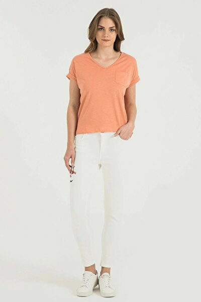 Kadın Nicole Skinny Fit Beyaz Pantolon Lf2017870