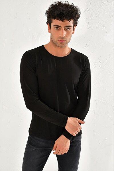 Ts 754 Slim Fit Siyah Spor T-shirt