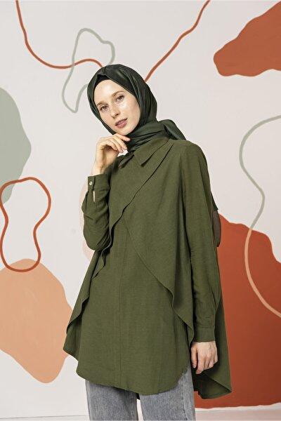 Yeşil Önü Aller Detaylı Kadın Tunik