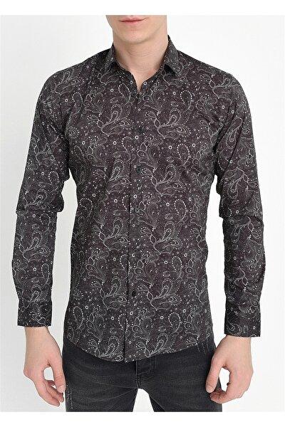 G 1408 Slim Fit Siyah Spor Gömlek