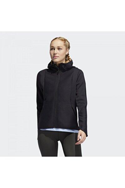 Dy4198 Climaheat Kadın Siyah Kapşonlu Ceket