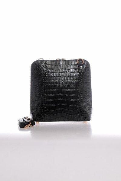 Mp9127 Kroko Siyah Kadın Çapraz Çanta