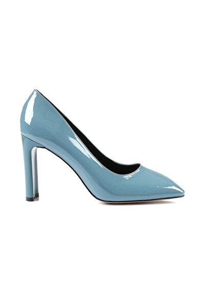 Petra Indigo Mavi Topuklu Ayakkabı