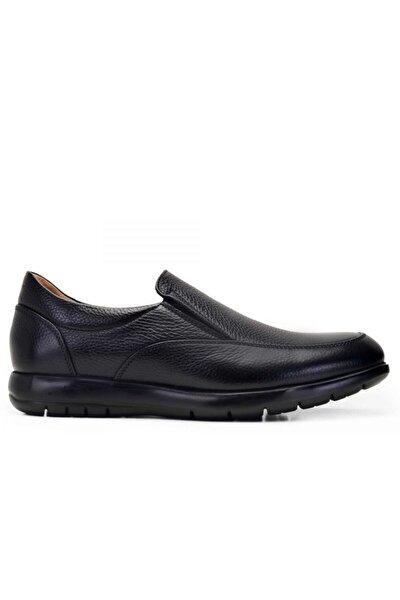 Hakiki Deri Siyah Günlük Loafer Erkek Ayakkabı -10220-