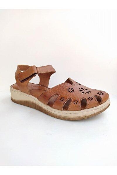Ms02 Ortopedik Yumuşak Taban Kadın Deri Sandalet