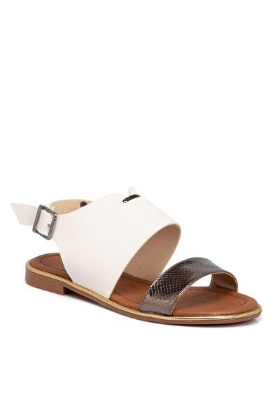 Beyaz Vegan Kadın Sandalet 210026d93