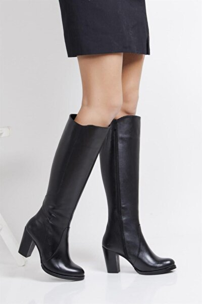 Hakiki Deri Kadın Deri Çizme Dp02-3086