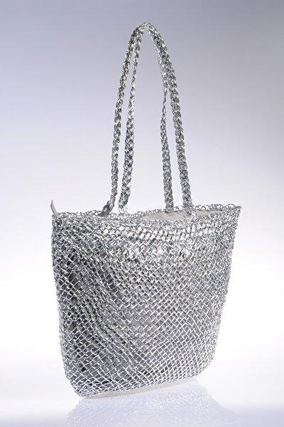 Luxury Sghsr1014 Gümüş Kadın Omuz Çantası