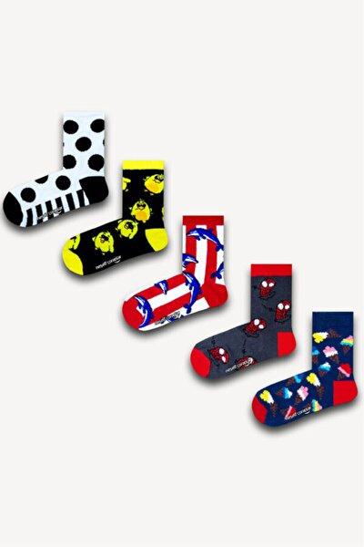 5'li Renkli Çocuk Çorap Set 3