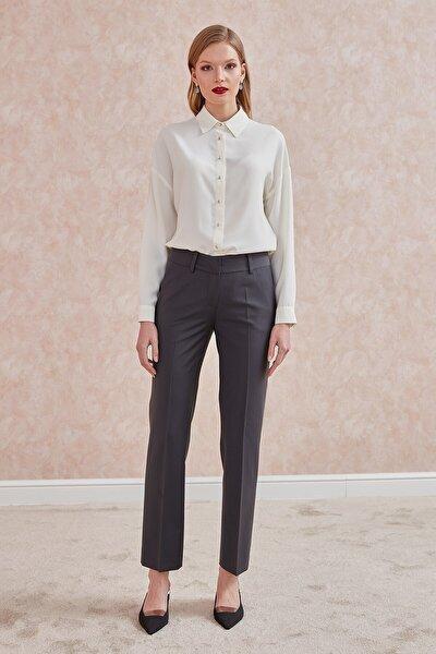 Pantolon-dar Paça, Uzun, Yün Karışımlı Klasik