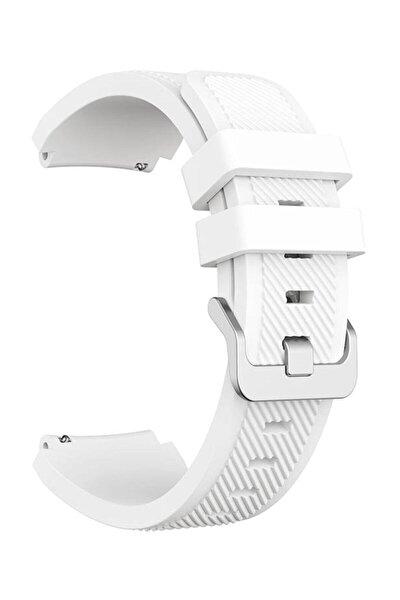 Samsung Galaxy Watch Kordon Galaxy Gear S3 Frontier Classic Kayış Saat Kordonu - 46mm - Beyaz