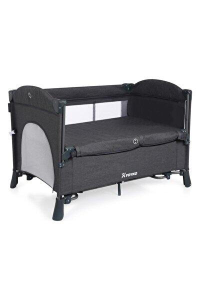 Exclusive Comfort 8 In 1 Park Yatak Oyun Parkı Koyu Gri 70 X 110 Cm