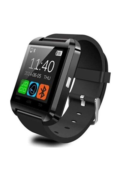 U8 Bluetooth Akıllı Saat Dokunmatik Ekran Siyah