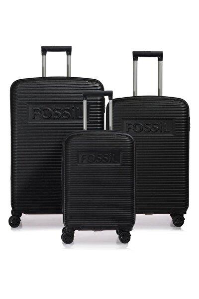 Fsy1129-set Siyah Siyah Unısex 3 Lü Set Valiz