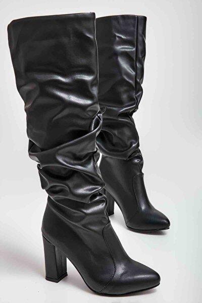 Siyah Kadın Çizme M0503610009