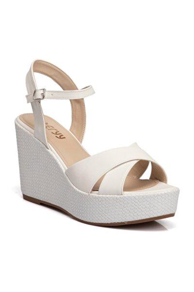 Beyaz Vegan Kadın Sandalet 210009d93