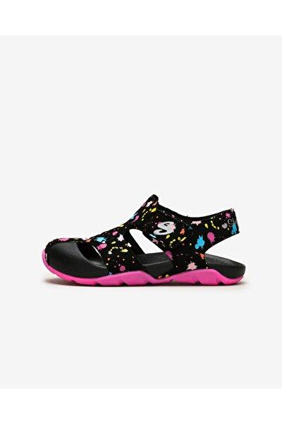 SIDE WAVE - Büyük Kız Çocuk Siyah Sandalet