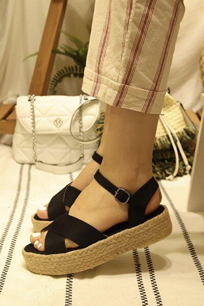 Aloni Hasır Tabanlı Sandalet
