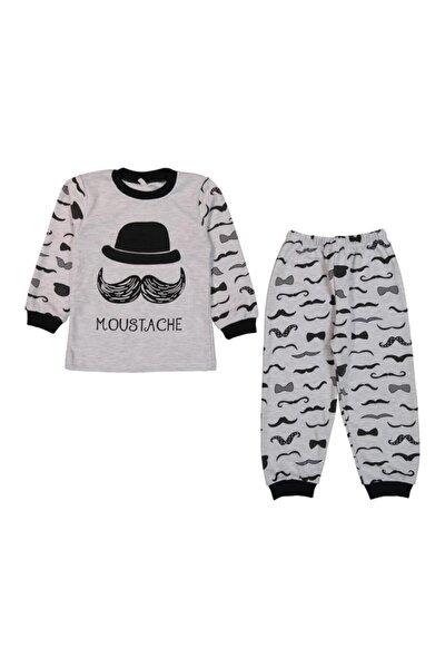 Bıyıklı 1/3y Erkek Bebek Pijama Takımı