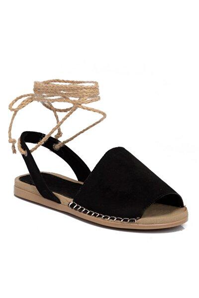 Siyah Vegan Kadın Sandalet 210113d62