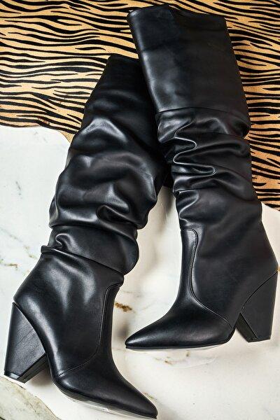 Siyah Kadın Çizme K06397777
