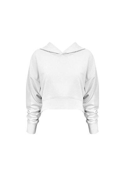 Kapüşonlu Kısa Sweatshirt