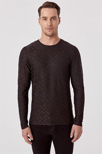 Ts 777 Slim Fit Siyah Spor T-shirt