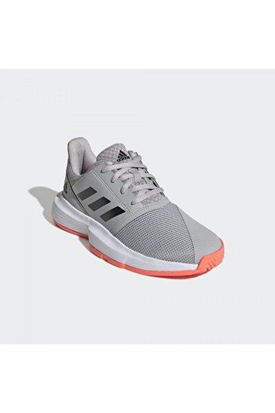 Unisex Gri Çocuk  Eh1102 Courtjam Xj Toprak Kort Tenis Ayakkabısı
