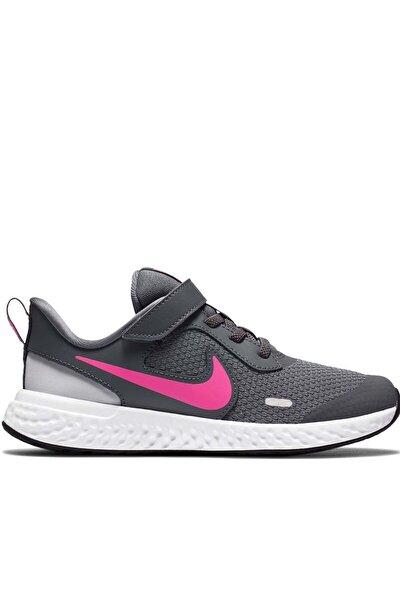 Kız Çocuk Gri Nıke Revolutıon 5 (Psv) Yürüyüş Koşu Ayakkabı Bq5672-015-gri