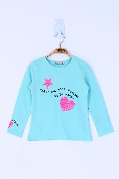 Kız Çocuk Pul Işlemeli Sweatshirt