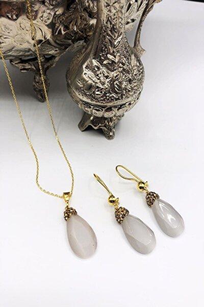 Dr Stone Harem Koleksiyonu Kedigözü Taşı El Yapımı 925 Ayar Gümüş Set Gdr7