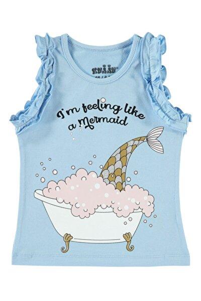 Kız Bebek Tişört 6-18 Ay Mavi