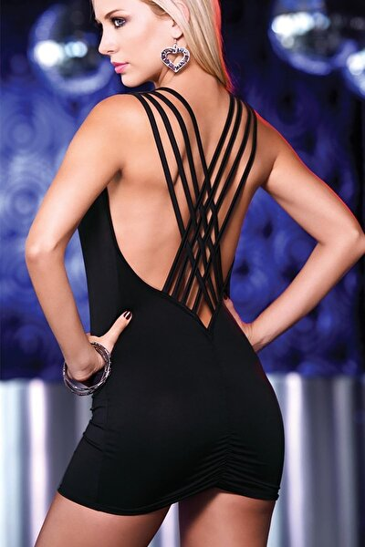 Özel Tasarım Siyah Mini Elbise