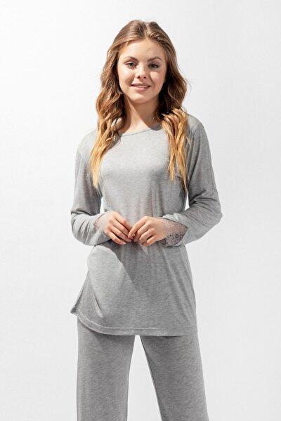 Silver Line Secret Kadın Pijama Takımı - Gri