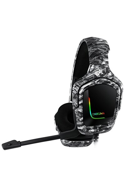 K20 Rgb Işıklı Kamuflaj Grey Pro Gaming Kulaklık Pc/tel/ps4