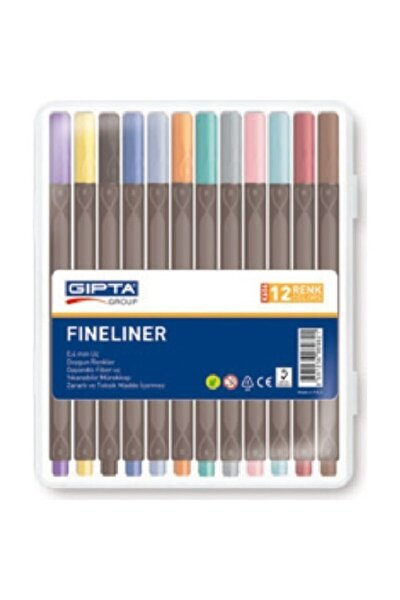 Fineliner Keçe Uç Kalem 0.4 Mm Üçgen 12 Renk 4-k606000-5001