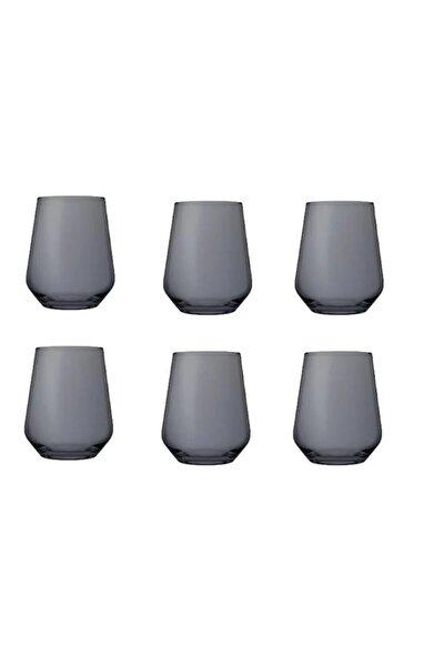 41536 6 Lı Gri Allegra Bardak Su Bardağı - Meşrubat Bardağı