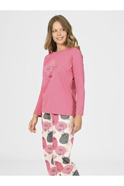 Desenli Kadın Pijama Takımı 67029